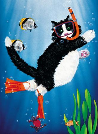Snorkel Kitty by Peter Powell