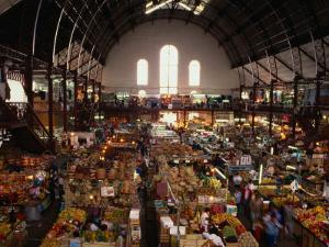 Interior of Main Market, Guadalajara, Mexico by Peter Ptschelinzew