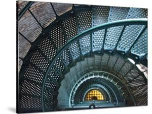 Iron Staircase of Currituck Beach Lighthouse by Peter Ptschelinzew