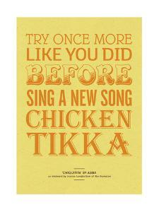 Sing a New Song Chicken Tikka by Peter Reynolds