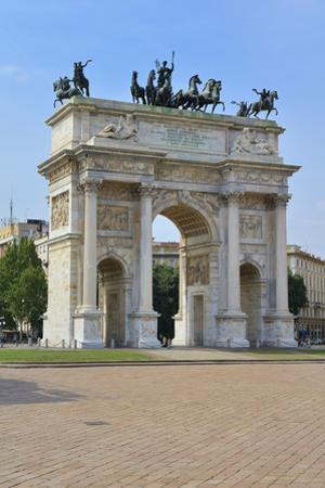 Arco Della Pace, Piazza Sempione, Milan, Lombardy, Italy, Europe