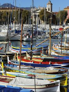 Colourful Boats in Port Lympia, Quartier Du Port, Nice, Alpes Maritimes, Provence, Cote D'Azur, Fre by Peter Richardson