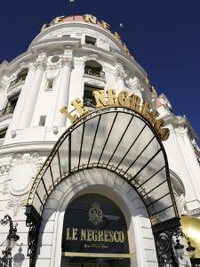 Detail, Hotel Le Negresco, Promenade Des Anglais, Nice, Alpes Maritimes, Provence, Cote D'Azur, Fre by Peter Richardson