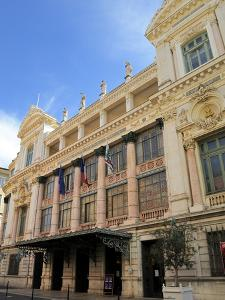 Facade of the Opera Theatre, Nice, Alpes Maritimes, Provence, Cote D'Azur, French Riviera, France,  by Peter Richardson