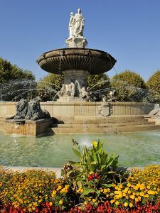 Fontaine De La Rotonde (Rotunda Fountain), Aix-En-Provence, Bouches-Du-Rhone, Provence, France, Eur by Peter Richardson