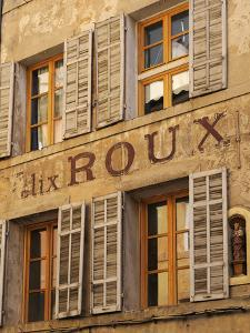 Old Advertising Sign on the Side of a Building, Aix-En-Provence, Bouches-Du-Rhone, Provence, France by Peter Richardson