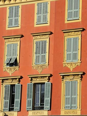 Ornate Shuttered Windows, Port Lympia in the Quartier Du Port, Nice, Alpes Maritimes, Provence, Cot