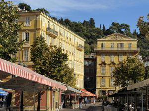 Place Charles Felix, Cours Saleya Market and Restaurant Area, Old Town, Nice, Alpes Maritimes, Prov by Peter Richardson