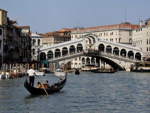 Rialto Bridge, Grand Canal, Venice, Veneto, Italy, Europe by Peter Richardson