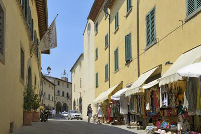 Shops in the Centre of the Old Town, Radda in Chianti, Tuscany, Italy, Europe