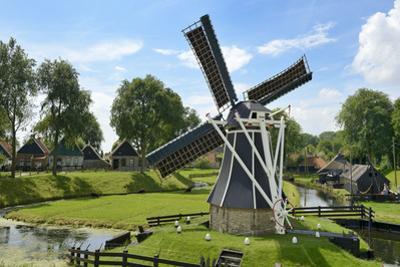 Traditional Dutch Windmill, Zuiderzee Open Air Museum, Lake Ijssel