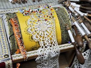 Traditional Lace Making, Le Puy En Velay, Haute-Loire, France, Europe by Peter Richardson