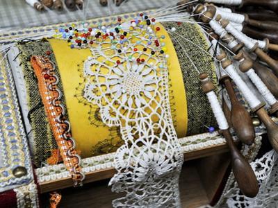 Traditional Lace Making, Le Puy En Velay, Haute-Loire, France, Europe