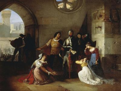 Peter Rossi, Imprisoned by the Scaligeri, 1818-1820-Francesco Hayez-Giclee Print
