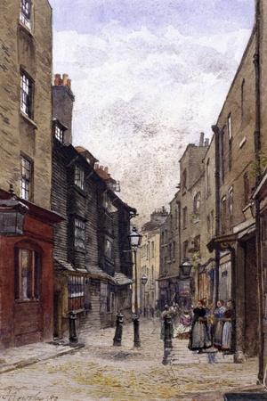 Peter's Lane, Clerkenwell, London, 1880-John Crowther-Giclee Print