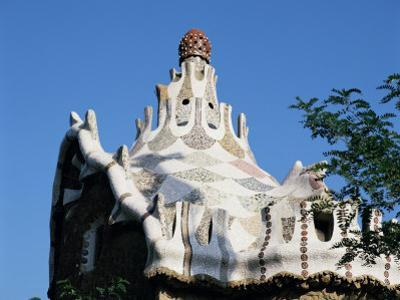 Gaudi's Mosaic House, Guell Park, Barcelona, Catalonia, Spain by Peter Scholey