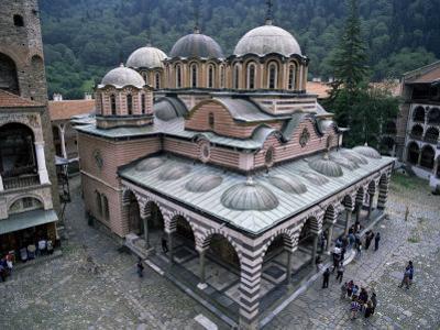 Main Church, Rila Monastery, Unesco World Heritage Site, Bulgaria by Peter Scholey