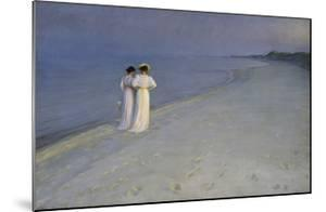 Summer Evening at Skagen (Anna Ancher and Marie Kroyer on the Beach at Skagen), 1893 by Peter Severin Kroyer