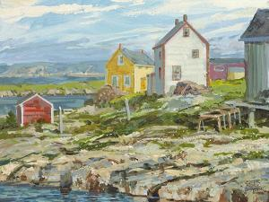 Fisherman's Houses Badger's Quay by Peter Snyder