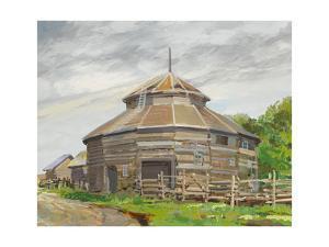 Round Barn Fort Edmonton by Peter Snyder