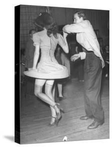 An Aircraft Worker Dancing with His Date at the Lockheed Swing Shift Dance by Peter Stackpole