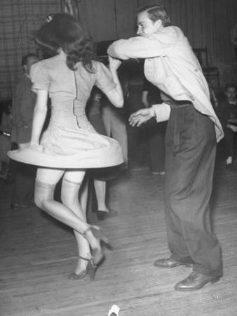 An Aircraft Worker Dancing with His Date at the Lockheed Swing Shift Dance