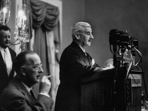 Author William Faulkner Making a Speech Upon Receiving the National Book Award by Peter Stackpole