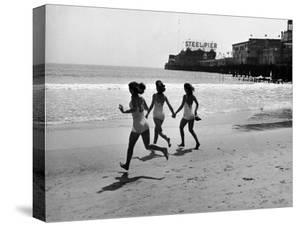 Beach at Atlantic City, the Site of the Atlantic City Beauty Contest by Peter Stackpole