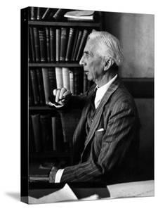 Bertrand Russell Sitting at His Desk at California University at Los Angeles by Peter Stackpole