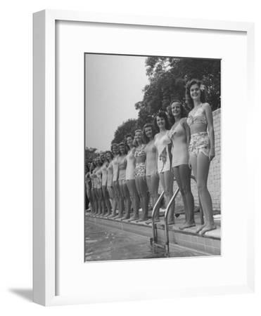 California and Florida Bathing Beauties Participating in a Contest