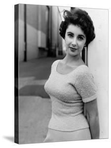 Elizabeth Taylor Outside of Sound Stages during Filming of A Place in the Sun by Peter Stackpole