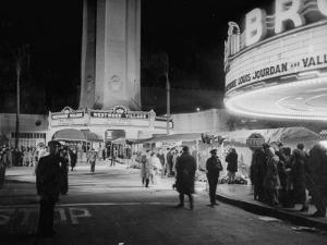 Fans Gathering around the Thearters for the New Premiere by Peter Stackpole