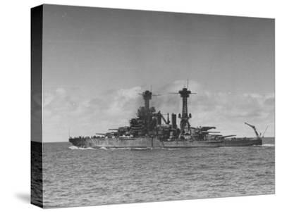 "Full Length View of Battleship ""Tennessee"""