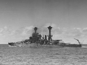 """Full Length View of Battleship """"Tennessee"""" by Peter Stackpole"""