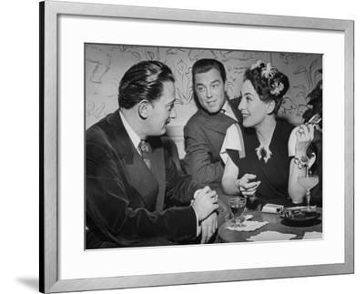 Joan Crawford Chatting with Artist Salvador Dali at Del Monte Resort