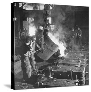 Men Working at the Iron and Steel Mill by Peter Stackpole
