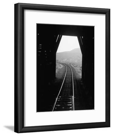 Railroad Tracks as Seen Through the Tunnel