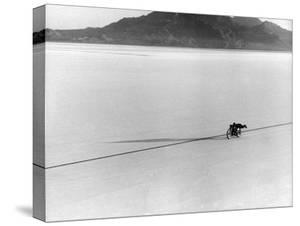 Roland Free Breaking World's Speed Record on Bonneville Salt Flats by Peter Stackpole