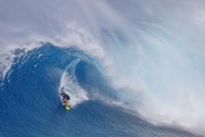 Surfing Jaws by Peter Stahl