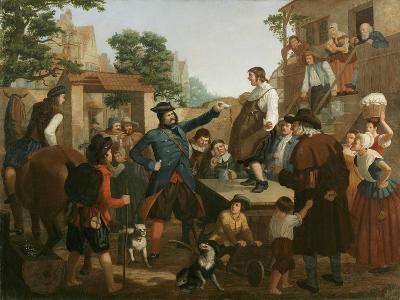 Peter Stuyvesant and the Cobbler, C.1850-John Whetten Ehninger-Giclee Print