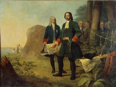 Peter the Great, the Founding of Saint Petersburg, 1838-Alexei Gavrilovich Venetsianov-Giclee Print