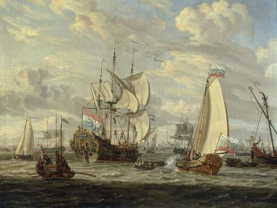 Peter the Great visiting the 'Peter and Paul'-Abraham Storck-Giclee Print