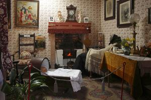 19th Century Cottage Interior, Arran Heritage Museum, Brodick, Arran, North Ayrshire, Scotland by Peter Thompson