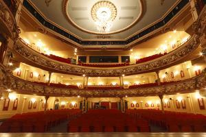 Auditorium of the Grand Theatre, Swansea, South Wales, 2010 by Peter Thompson