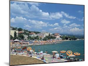 Beach Scene, Opatija, Croatia by Peter Thompson