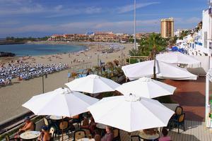 Beachfront Bar, Playa De Las Vistas, Los Cristianos, Tenerife, Canary Islands, 2007 by Peter Thompson