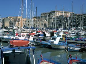 Boats, the Old Fort, La Cala, Palermo, Sicily, Italy by Peter Thompson