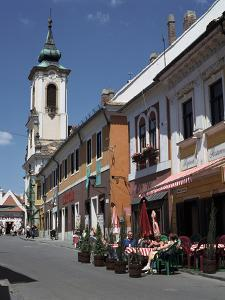 Café and Church, Szentendre, Hungary by Peter Thompson