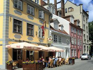 Cafe on Meistaru Iela, Riga, Latvia by Peter Thompson