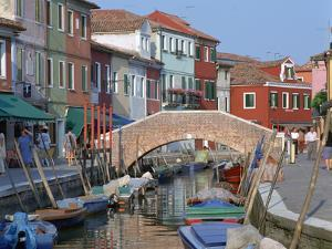 Canal, Burano, Venice, Italy by Peter Thompson